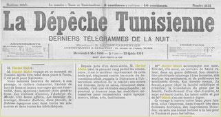 Hector Malot dans la Dépêche Tunisienne - 1896