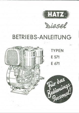 Betriebsanleitung Hatz E571, E671