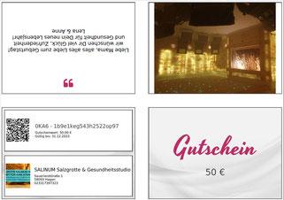 zmyle-Gutschein Beispiel 1, Salzgrotte SALINUM Hagen
