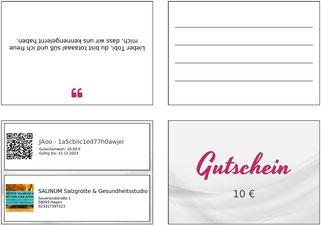 zmyle-Gutschein Beispiel 2, Salzgrotte SALINUM Hagen