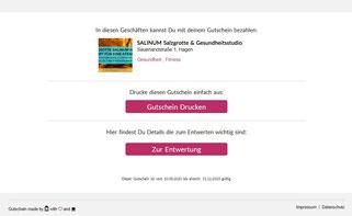 zmyle-Gutschein als Link 2, Salzgrotte SALINUM Hagen