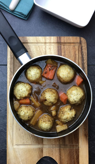 Beef Stew & Homemade Dumplings
