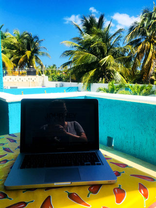 balcony office in Mexico