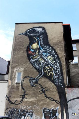 Art by ROA in Katowice