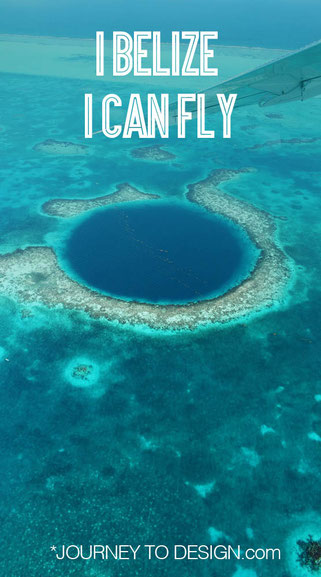 I belize I can fly ... over the blue hole
