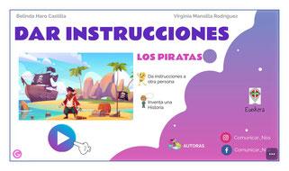 """DAR INSTRUCCIONES """"Los piratas"""""""