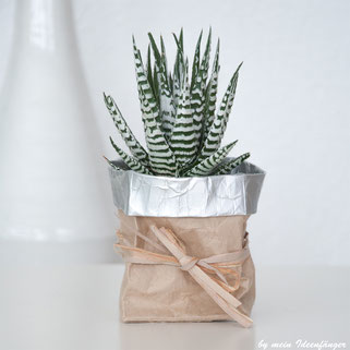 Upcycling: Blumentopf aus Tetrapack bzw. Milchtüten