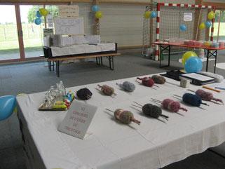 Les pelotes de laines pour la compétition de tricot