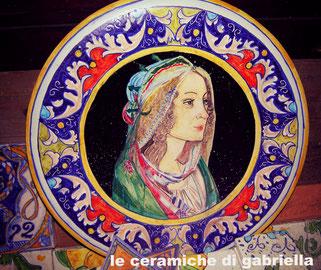 piatto di maiolica botticelli