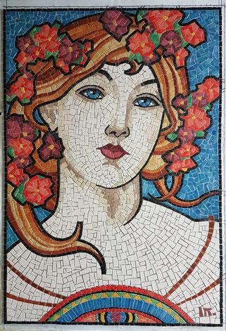 #mosaique mucha#mosaic mucha# portrait mosaic mucha# portrait mosaique mucha #mucha#illustration mucha#portrait mucha