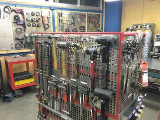 きれいに整理整頓された工具