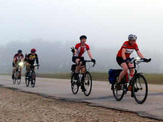 Fun early morning cycling with the Manitoba Randonneurs Breakfast Rides.