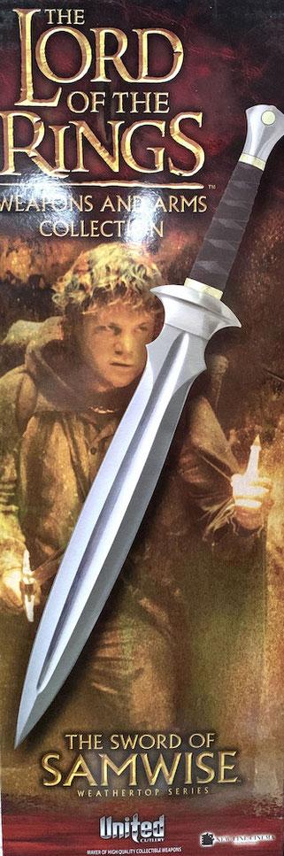Kurz-Schwert des Samwise 1/1 Life Size Herr der Ringe Replik 60cm scharf United Cutlery