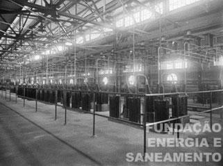 Vista interna do prédio principal da ETT Pirituba, destacando piso superior, designado na legenda como destinada para equipametnos de 40.000 volts