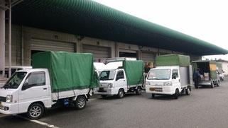 軽貨物の一斉配送です。高石 泉大津 神戸 奈良 和歌山軽貨物 軽貨物急送
