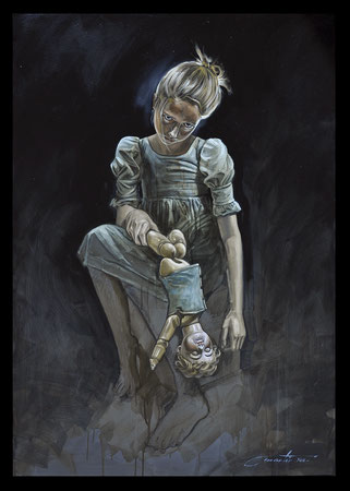 La pitié dangereuse - Huile sur toile 116X81