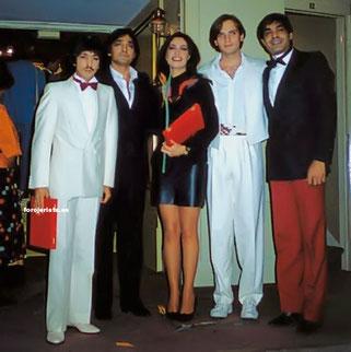 Los Chichos junto a Daniela Romo y Miguel Bose 1986 (En Madeira)