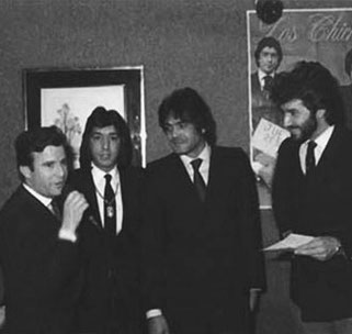 Eduardo, Jero y Emilio presentando su último  disco