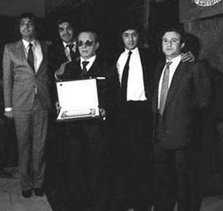 Los Chichos junto a Eduardo G, y J Torregrosa   (Madrid 1981)