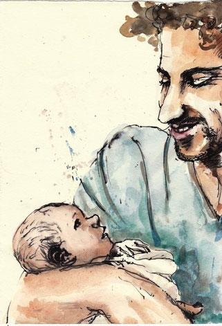 Bild Vater + Baby