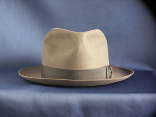 BORSALINO soft felt hat grey 1930~40's front view