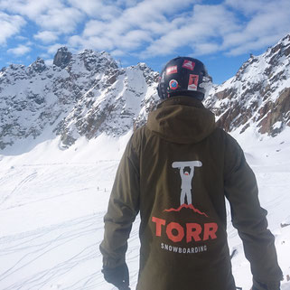 TORR Snowboarding coach on a mountain
