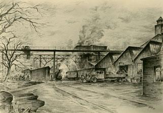 Wilhelmshütte, Zeichnung um 1935