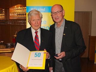 v.l. Reinhard Düspohl und Hermann Ludewig