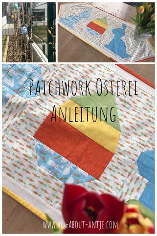 Patchwork Block Osterei Anleitung