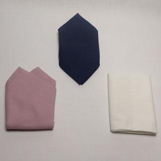 Pochette Costume en Tissu Uni