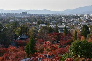 永観堂 多宝塔より、京都の眺め