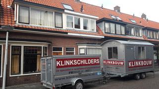 Renovatie dak lood schoorsteen, zinken dakgoten vervangen en schilderwerk Buys Ballotstraat 60 Leiden