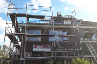 Aannemer Leiden renovatie, verbouwing en schilderwerk enkele naast elkaar gelegen jaren '30 woningen in de bekende Tuinstadwijk nabij de Lammenschansweg in Leiden.