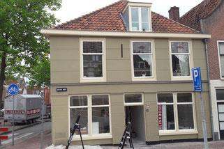 Verbouwen gemeentelijk monument aan de Nieuwe Mare 13 te Leiden, bouwjaar 1650.