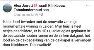 Schilderen en isolatieglas plaatsen dakkapel raam en kozijnen in Leiden