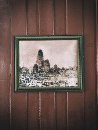 das alte ayutthaya im foto