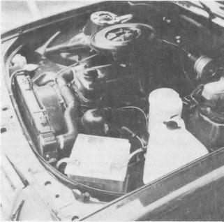 Der Motor mit 2490 ccm, gut und robust, aber wenig performant und wenig ökonomisch.