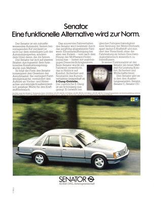 Opel Senator A1 Werbung 1980