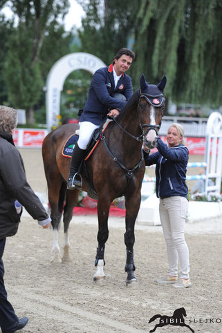 Peter Englbrecht und Couleur Royal (m. Petra Janout) siegten in der offenen Wertung des LM-Springens © sIBIL sLEJKO