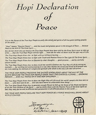 Hopi Declaration of Peace