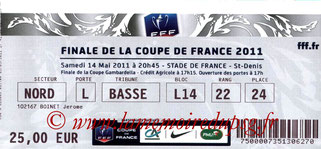 Ticket  PSG-Lille  2010-11