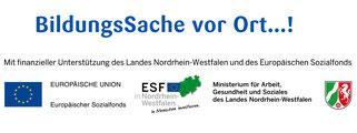 bildungssache vor ort, gefördert durch das Land NRW und den ESF