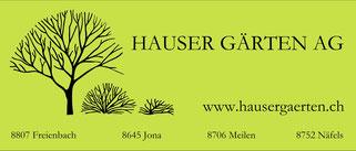 Sponsor Rockkonzert Wangen SZ Hauser Gärten AG
