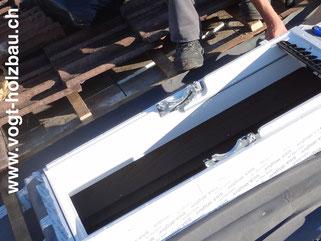 Dachfenstereinbau Dachfensteraustausch Dachfensterreparatur Dacheinbaute Dani Vogt D. Vogt Holzbau.ch, CH 8855 Wangen SZ
