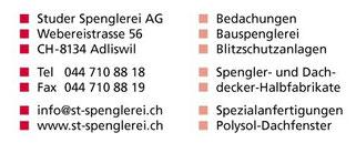 Rockkonzert Wangen SZ Studer Spenglerei 8134 Adliswil Angebote