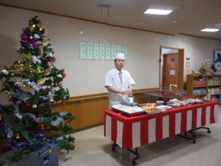 今年も大好評、職人さんによる握り寿司の実演!