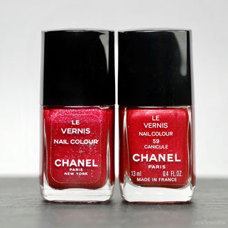 CHANEL • CANICULE RED HOT 59 • Comparison made in U.S.A. vs. made in France