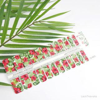 Stickergigant • Dschungelhibiskus nailsticker / nailwraps