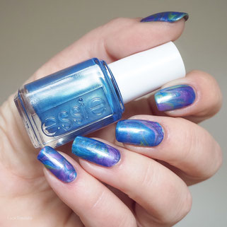 swatch essie slick oilpaint artist kit, violet auction, jade in manhattan, indigo to the gallery