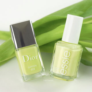 swatch Dior GARDEN 302 Glowing Gardens Collection Spring 2016 vs essie chillato